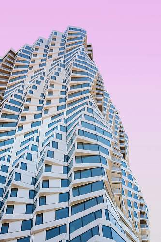 photo housing low angle view of white painted high rise building condo free for commercial use images