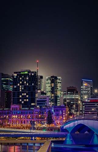 city nighttime city skyline town