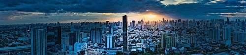 city panoramic photography of buildings metropolis