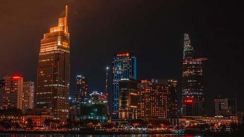 city panoramic photography of city during nighttime town