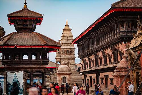city Patan Durbar Square, Nepal architecture