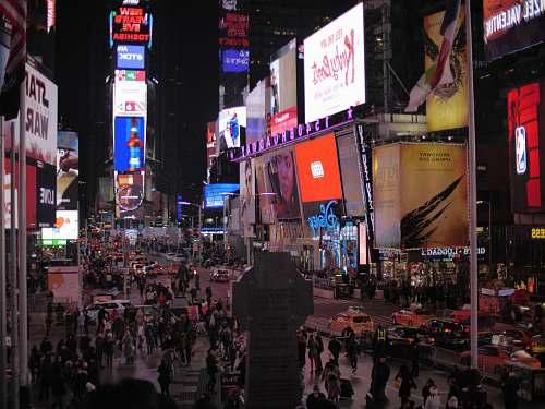 city people walking street metropolis