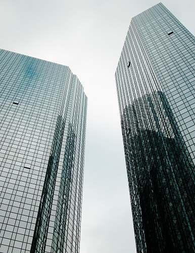 city two skyscrapers architecture