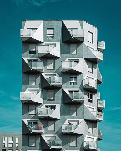 city white and gray building concept urban