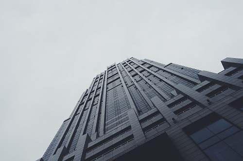 grey worm's-eye view photography of black building architecture