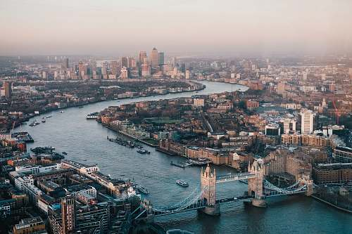 london aerial photography of London skyline during daytime bridge