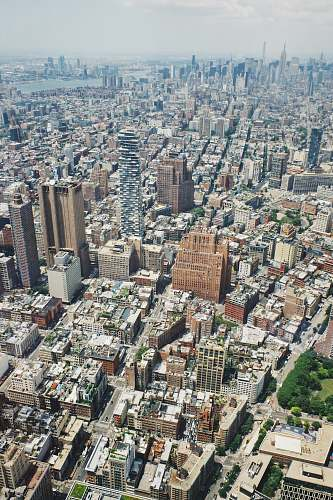 building aerial view of city during daytime new york