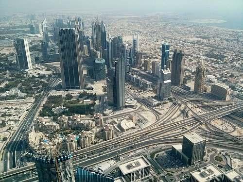 building aerial view of cityscape dubai