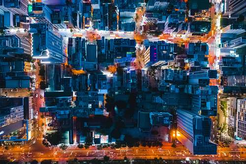 landscape city during night nature