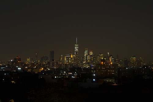 building city during nighttime metropolis