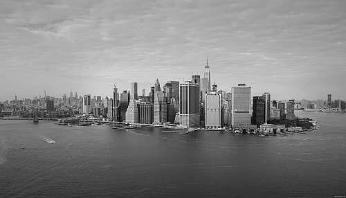 building landscape photo of city buildings black-and-white