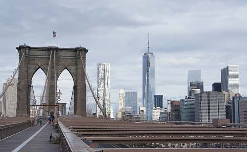 building landscape photography of Brooklyn Bridge, New York architecture