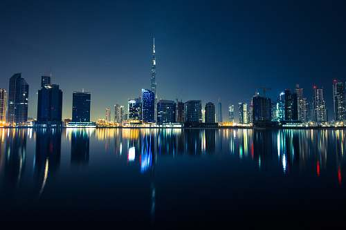 building panoramic photography of the city during night dubai