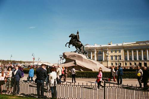 human people in park with man on horse statue person