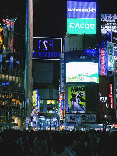 urban people on street during nighttime town