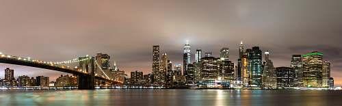 building skyline city scenery high rise