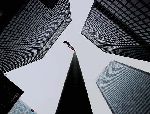 building worm-view photography of high rise buildings architecture
