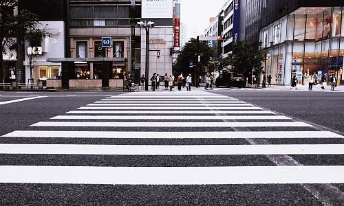 japan people standing on pedestrian lane crossing
