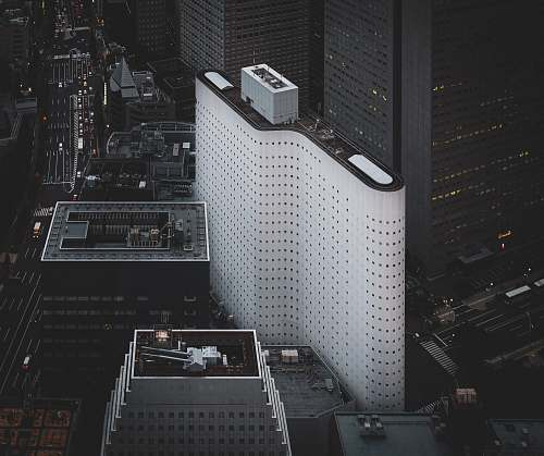 nature aerial photography of high-rise buildings during daytime outdoors