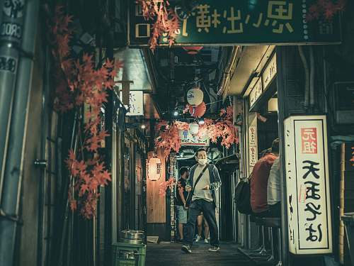 street people at a Japanese izakaya road