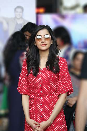 sunglasses woman in red dress accessory