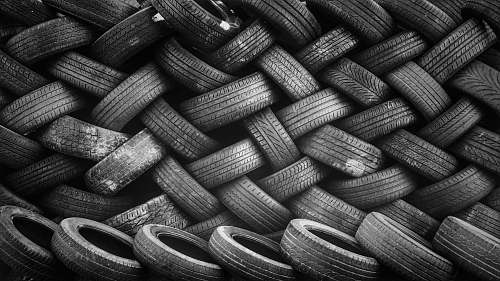 pattern bunch of tires grey