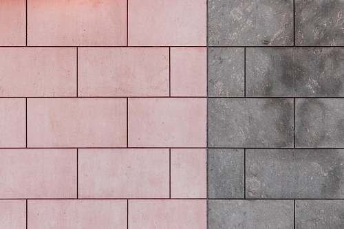 tile pink and gray concrete pavement floor