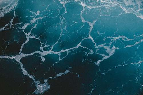 landscape top view photo of rippling body of water ocean