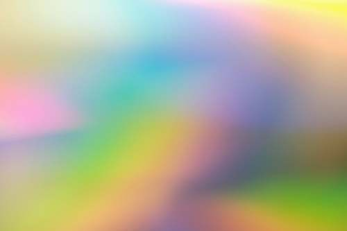 light yellow and white abstract painting rainbow