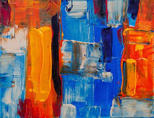art assorted-color abstract painting modern art