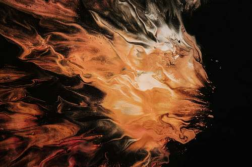pattern orange and white smoke art