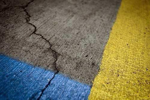 sidewalk grey and yellow concrete pavement path