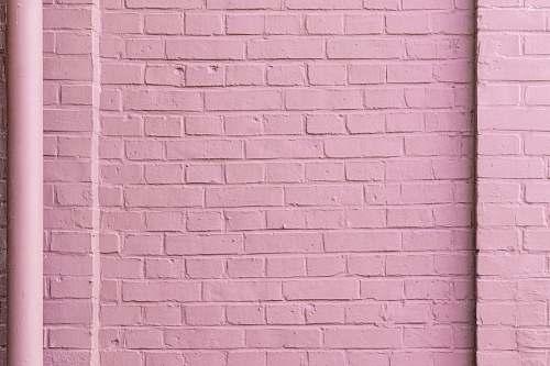 brick pink concrete wall wall