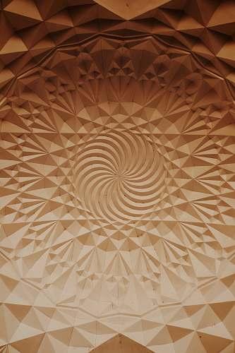 pattern embossed brown surface brown