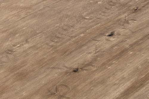vladimir oblast aerial photo of brown field with electric line russia