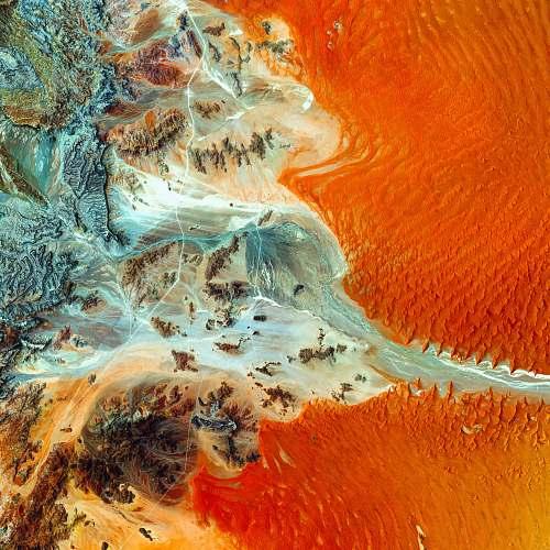 namibia aerial photo of island aerial