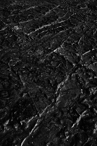 black-and-white black sand ground