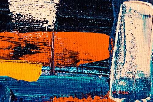photo art blue, red, and white painting modern art free for commercial use images
