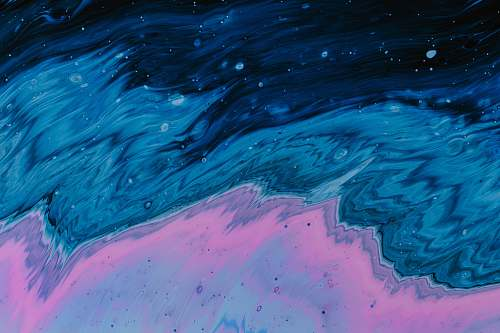 abstract body of water illustration oil spill