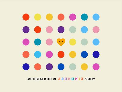polka dot Kindness is contagious pandemic