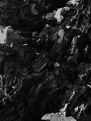 black-and-white mountain ranges black