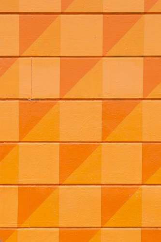 paper orange square and triangular graphic orange
