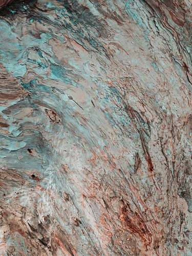 nature red and blue rock in closeup photo rock
