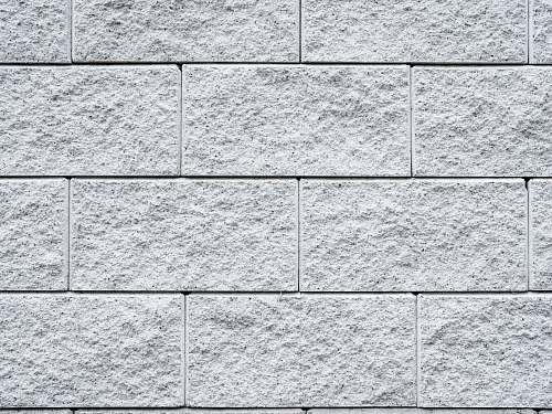 grey white brick surface wall