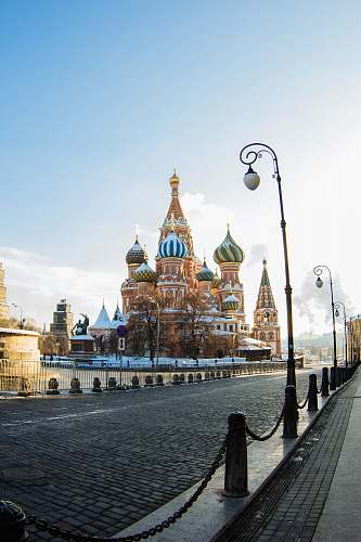 road beside St. Basil's Cathedral during daytime