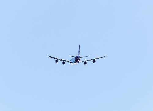 aircraft airliner flying in the sky transportation