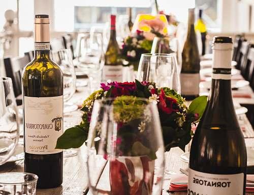 drink assorted-labeled wine bottles wine