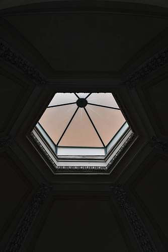 building octagonal white frame window