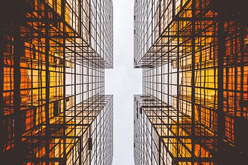 building worms eye view of buildings abstract