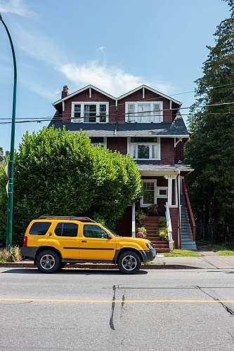 transportation yellow SUV car